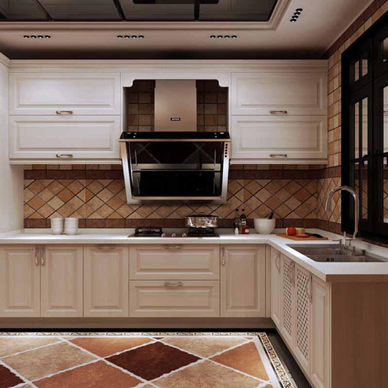 歐派整體櫥柜定制簡約小戶型廚房裝修灶臺定做石英石歐羅拉